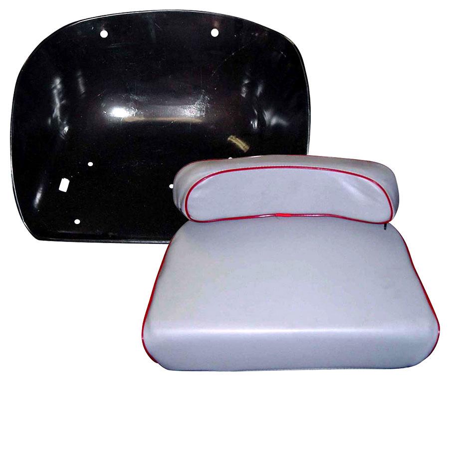 Massey 135 Seat : Massey ferguson pan and cushion grey seat