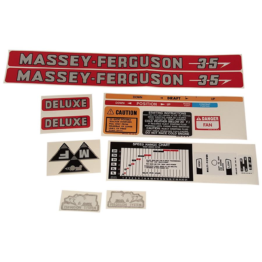 Massey Ferguson Decal Kits : Massey ferguson decal set diesel