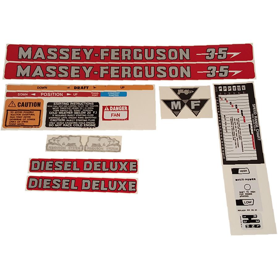 Massey Ferguson Decal Kits : Massey ferguson decal set