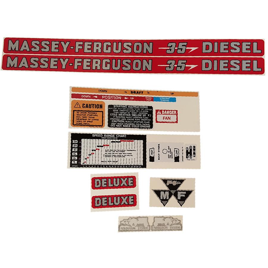 Massey Ferguson Decal Kits : Massey ferguson decal set ddl