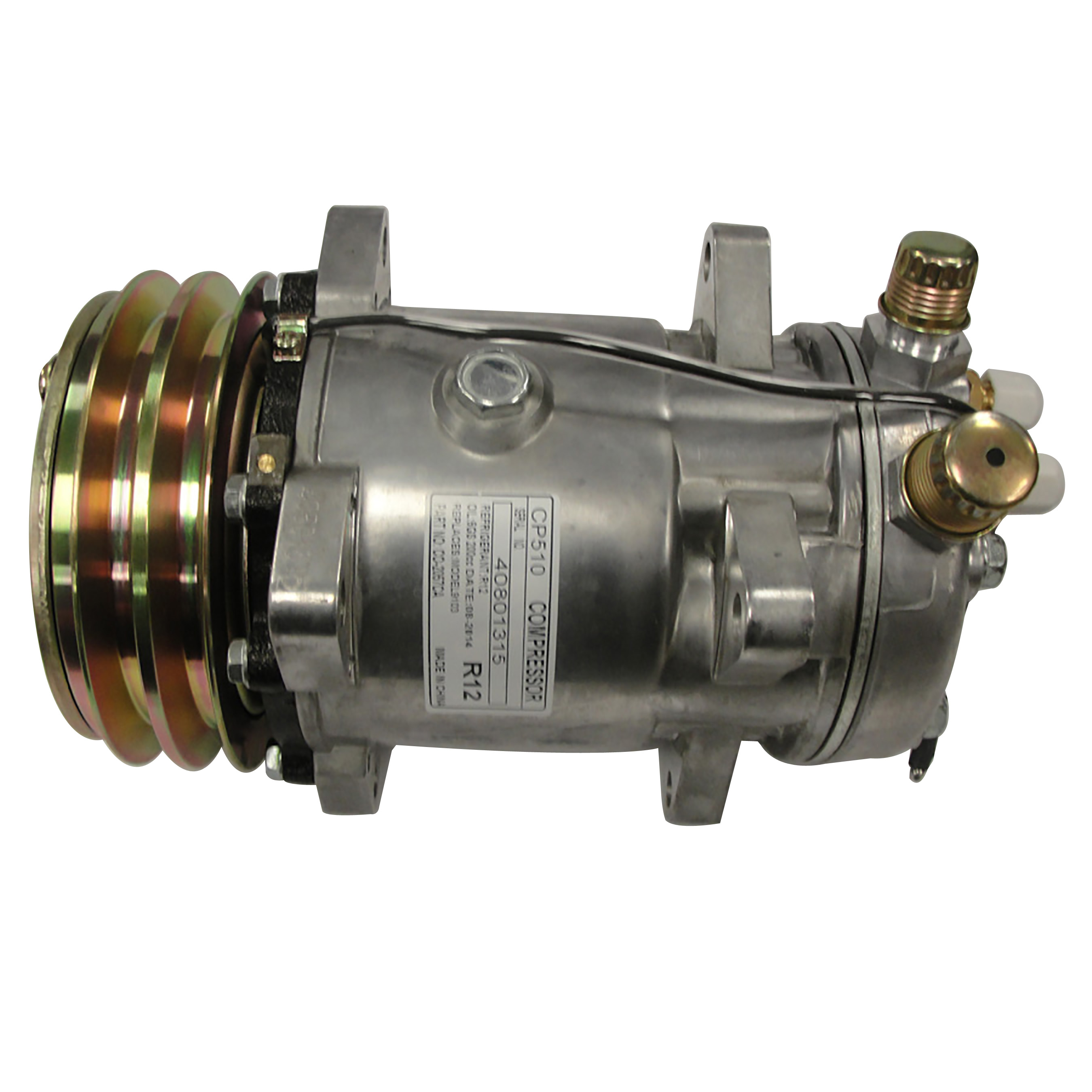 Massey-Ferguson AC Compressor Diameter: 5 1/4( 132mm) Voltage: 12