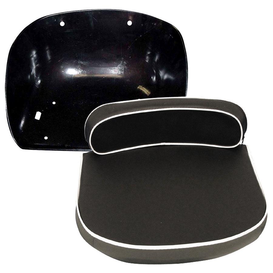 Massey-Ferguson Pan And (Black) Cushion Seat Set Comes With Black Metal Pan