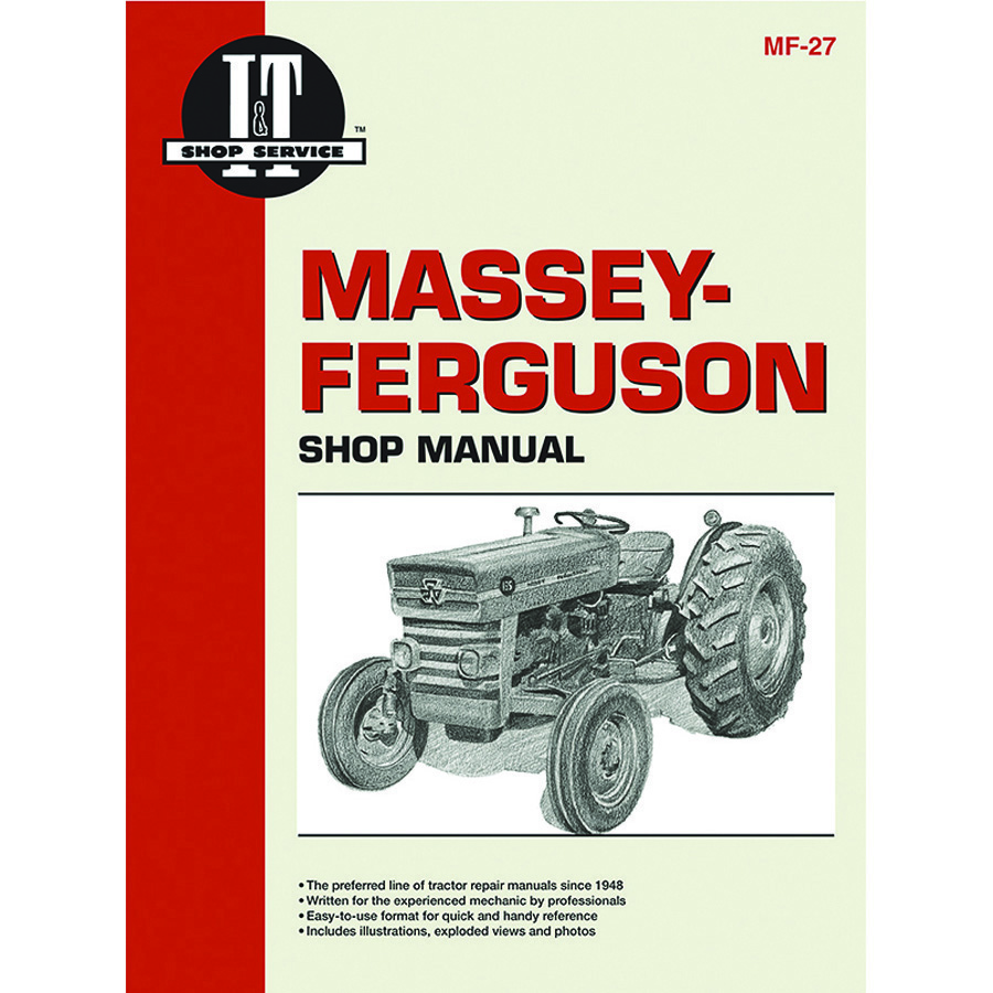 Massey-Ferguson Service Manual 96 Pages. Includes Wiring Diagrams For All Models.