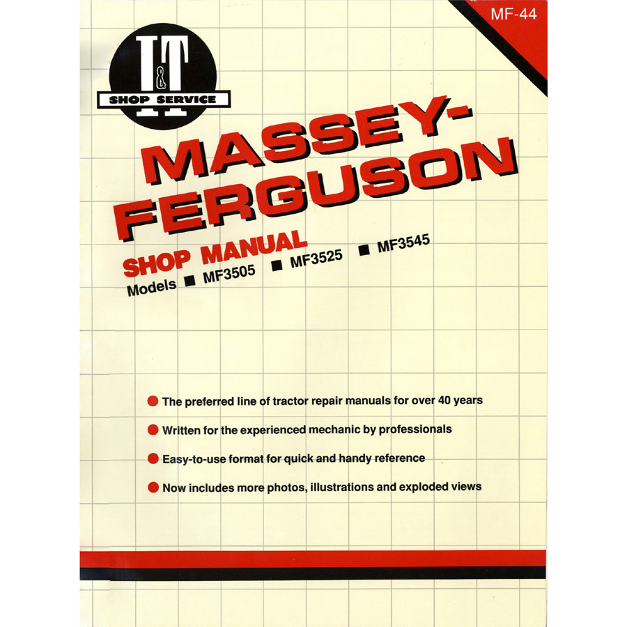 Massey-Ferguson Service Manual 112 Pages. Includes Wiring Diagrams For All Models.