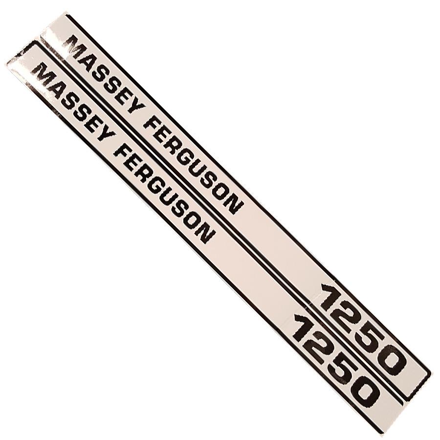 Massey-Ferguson Decal Set 1250 Massey Ferguson Hood Decal Kit