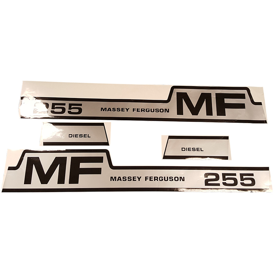 Massey-Ferguson Decal Set 255 Massey Ferguson Hood Decal Kit
