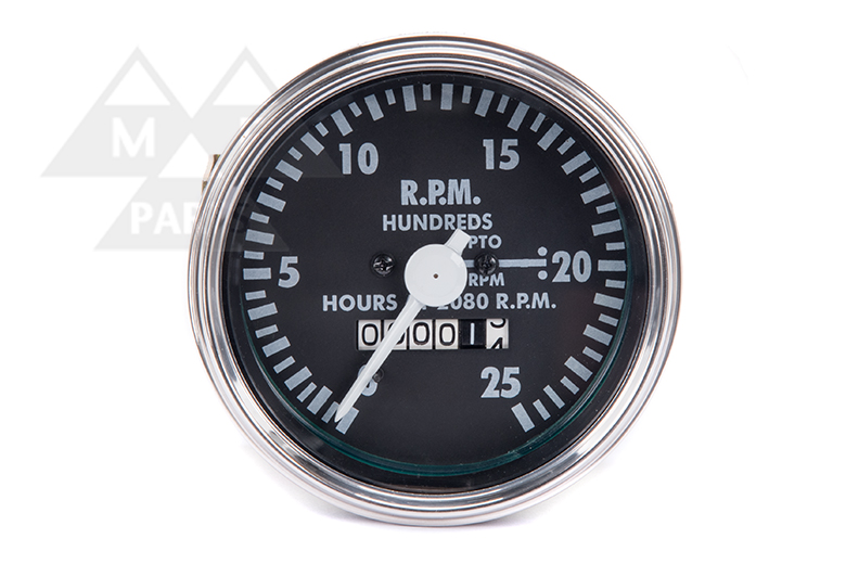0- 25 clockwise RPMx100 - Gauge - Tachometer - Clockwise