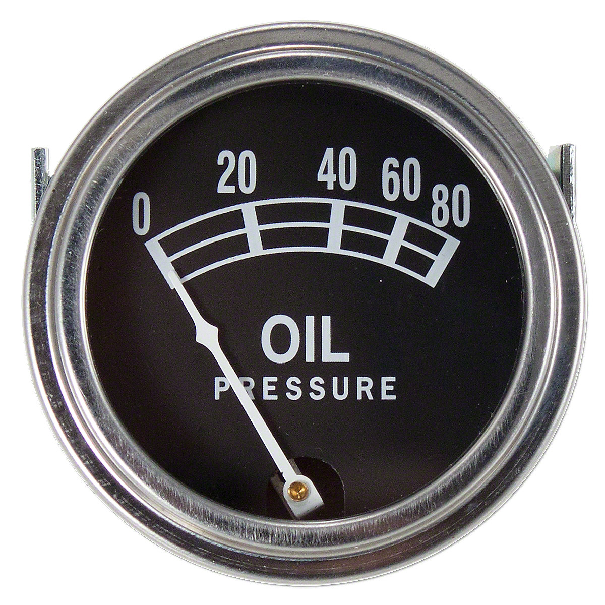0-80 PSI Oil Pressure Gauge For Massey Ferguson: TO30, 35, 65, 85, 88, 135, 150, 165, 175, 180, FE35, Super 90,  F40, TE20, TO20, TO35, Massey Harris: Colt 21, I-244, I-330, Mustang 23, Pacer 16, Pony, 101 jr, 101 sr, 102 jr, 102 sr, 20, 22, 30, 33, 44 Sp