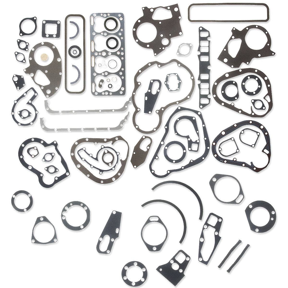 Complete Engine Gasket Set For Massey Harris: Mustang, 101jr, 102jr, 20, 20 Colt, 22, 30, 81, 82.