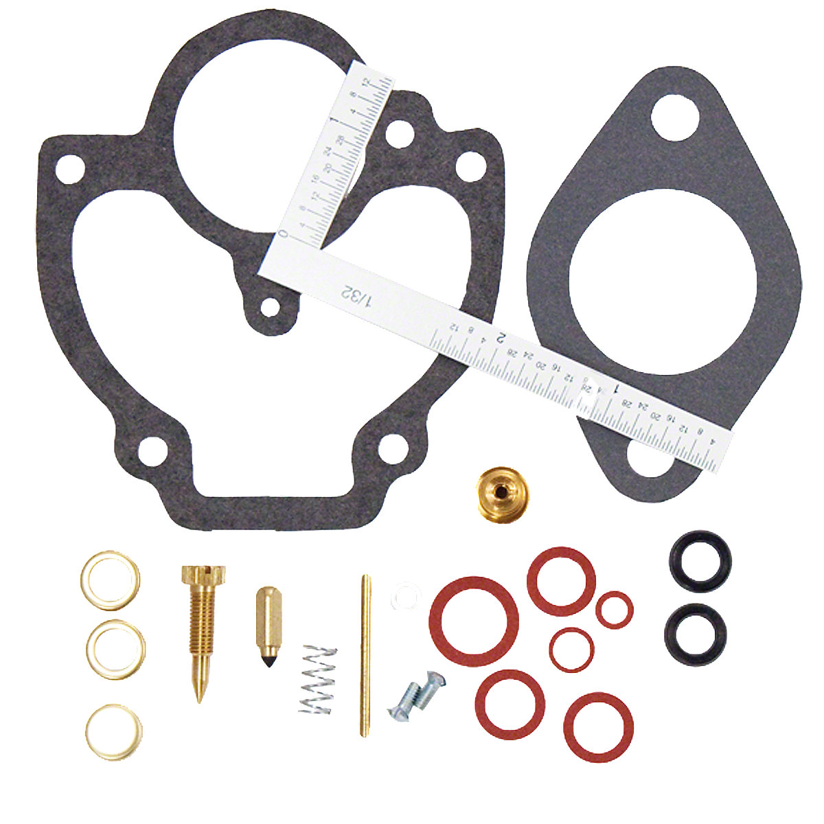 Zenith Economy Carburetor Kit For Massey Harris: 101 Jr, 102 Jr, 44, 44-6, 44 Special, 55, 555, Challenger, Pacemaker.