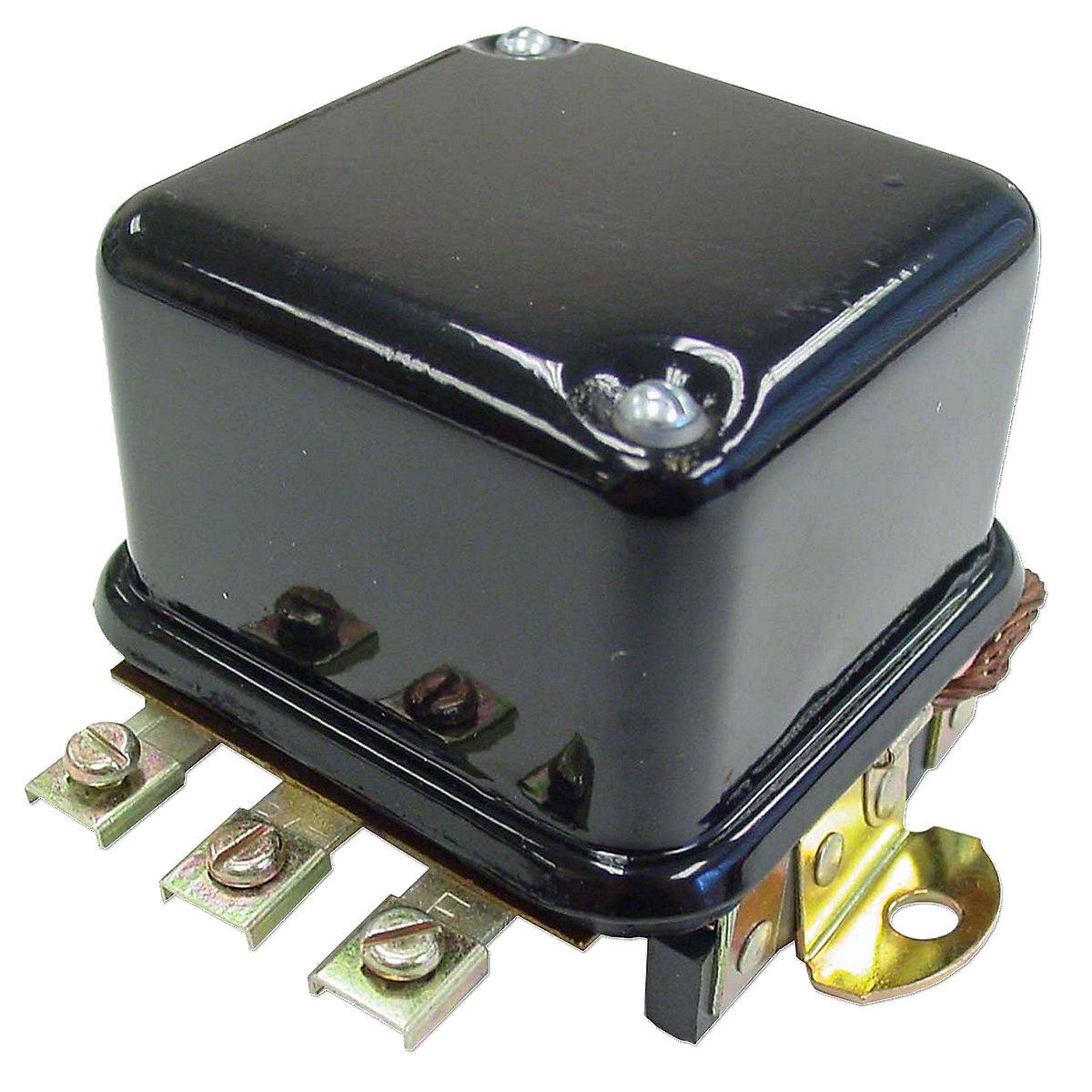 12 Volt Base Mount Voltage Regulator For Massey Ferguson: 40, FE35, TO35, 50, 135 Except With Perkins Gas Engine, 150, 165, 175, 180, 35, 65, 85, 88, Super 90, Massey Harris: 50.
