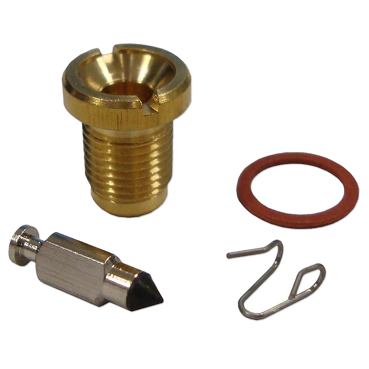 Marvel Schebler Viton Needle Float Valve For Massey Ferguson: 150, 35, 50, 135, F40, TE20, TO20, TO30, TO35, Massey Harris: Colt 21, Mustang 23, Pacer 16, Pony, 101 Jr, 102 Jr, 20, 22, 22K, 30, 50, 81, 82.