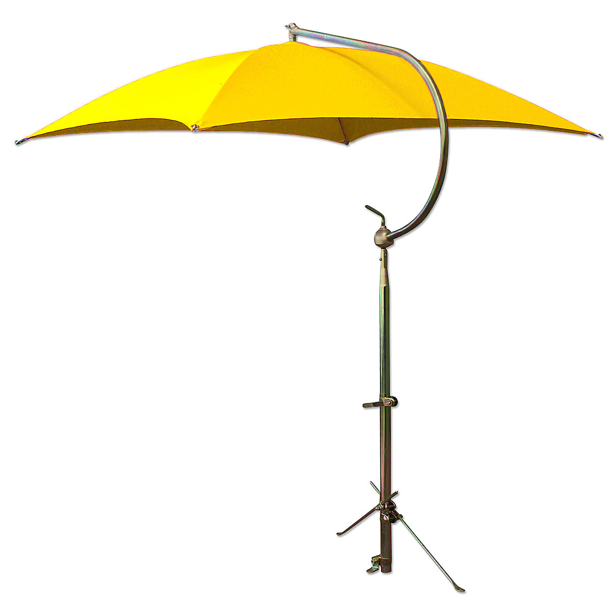 Deluxe Yellow Umbrella With Brackets For Massey Harris And Massey Ferguson Tractors.