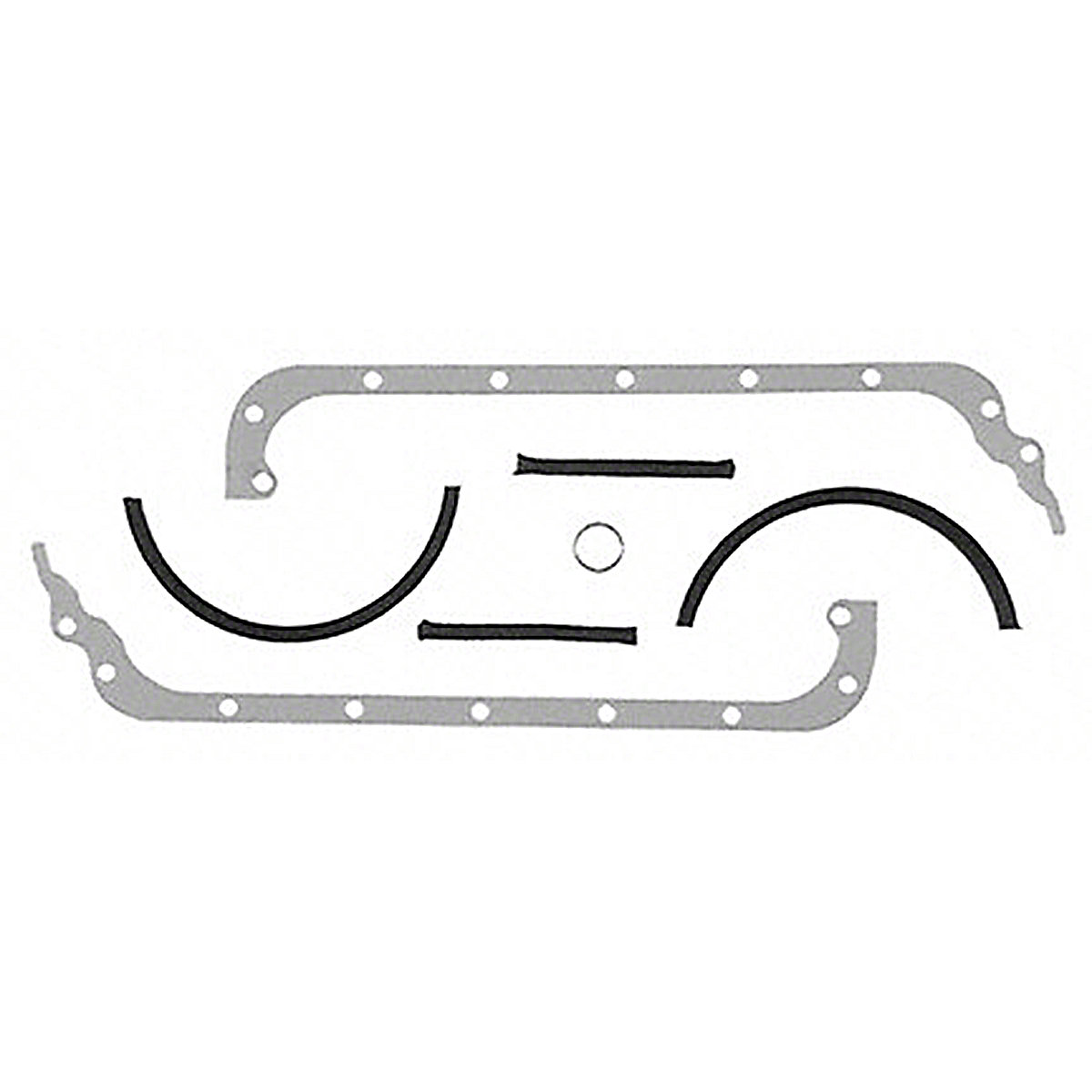 Oil Pan Gasket Set For Massey Harris: Colt 21, Mustang 23, 101 jr, 102 jr, 20, 22, 30, 81, 82.