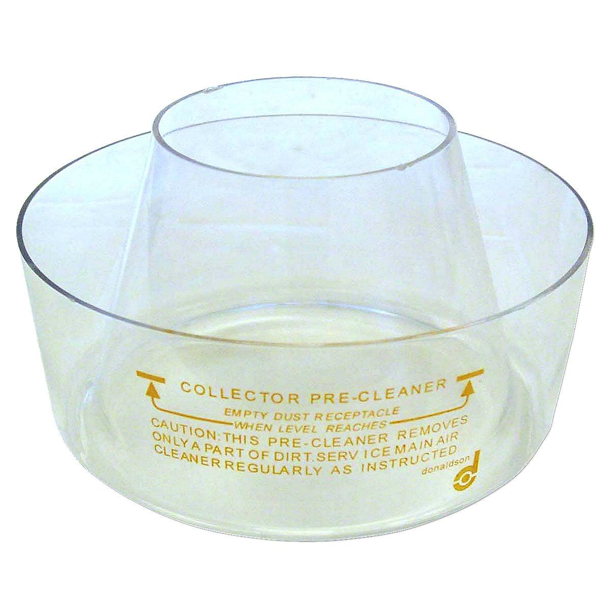 7 Plastic Pre-Cleaner Bowl For Massey Ferguson: 1080, 1085, 135, 150, 165, 175, 180, 282, 3050, 3060, 3070, 3080, 3090, 35 And 65 Diesel, 375, 383, 390, 393, 398, 399, 85, 88, 90, 98, 245, 275.
