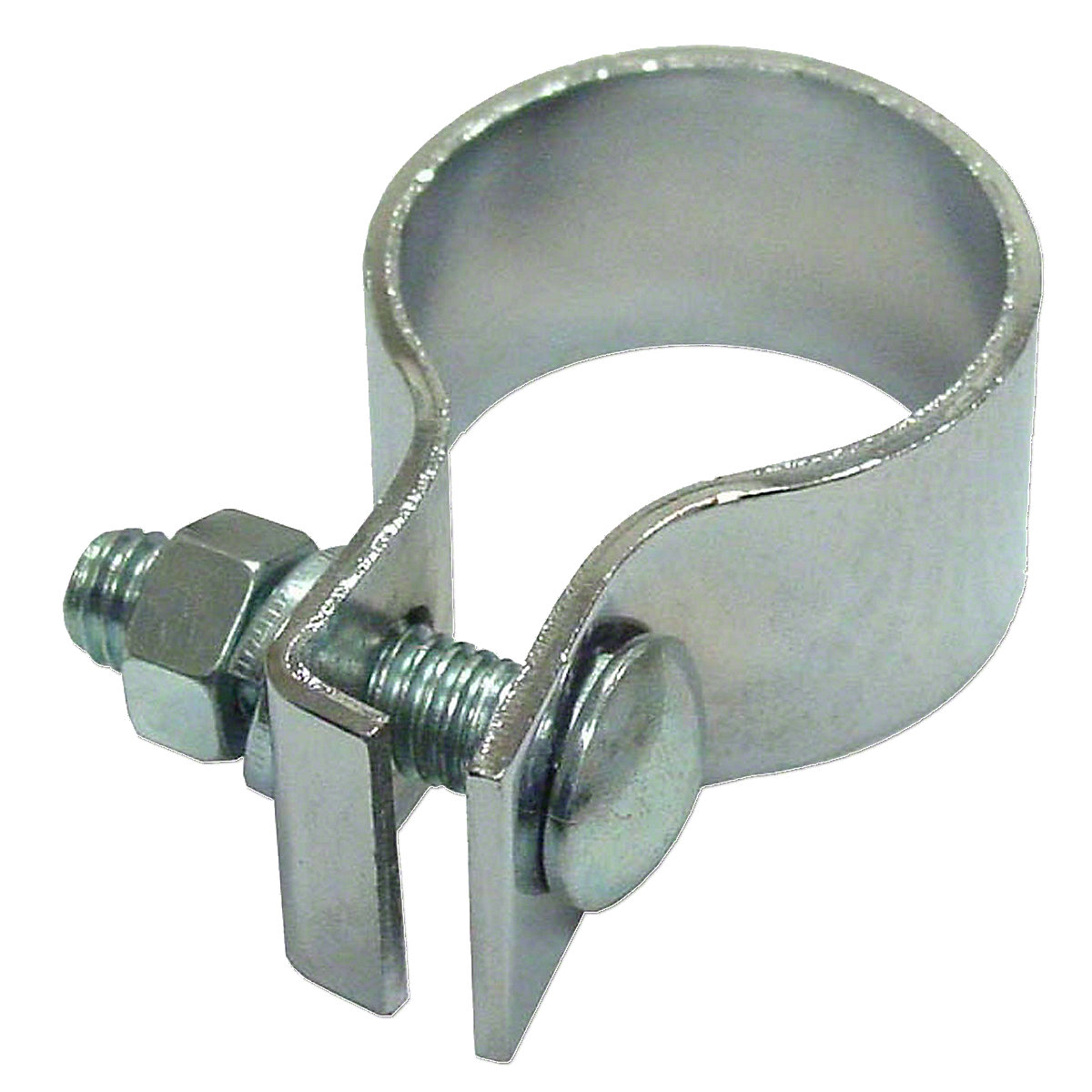 1.450 To 1.500 Chrome Muffler Clamp For Massey Harris And Massey Ferguson Tractors.