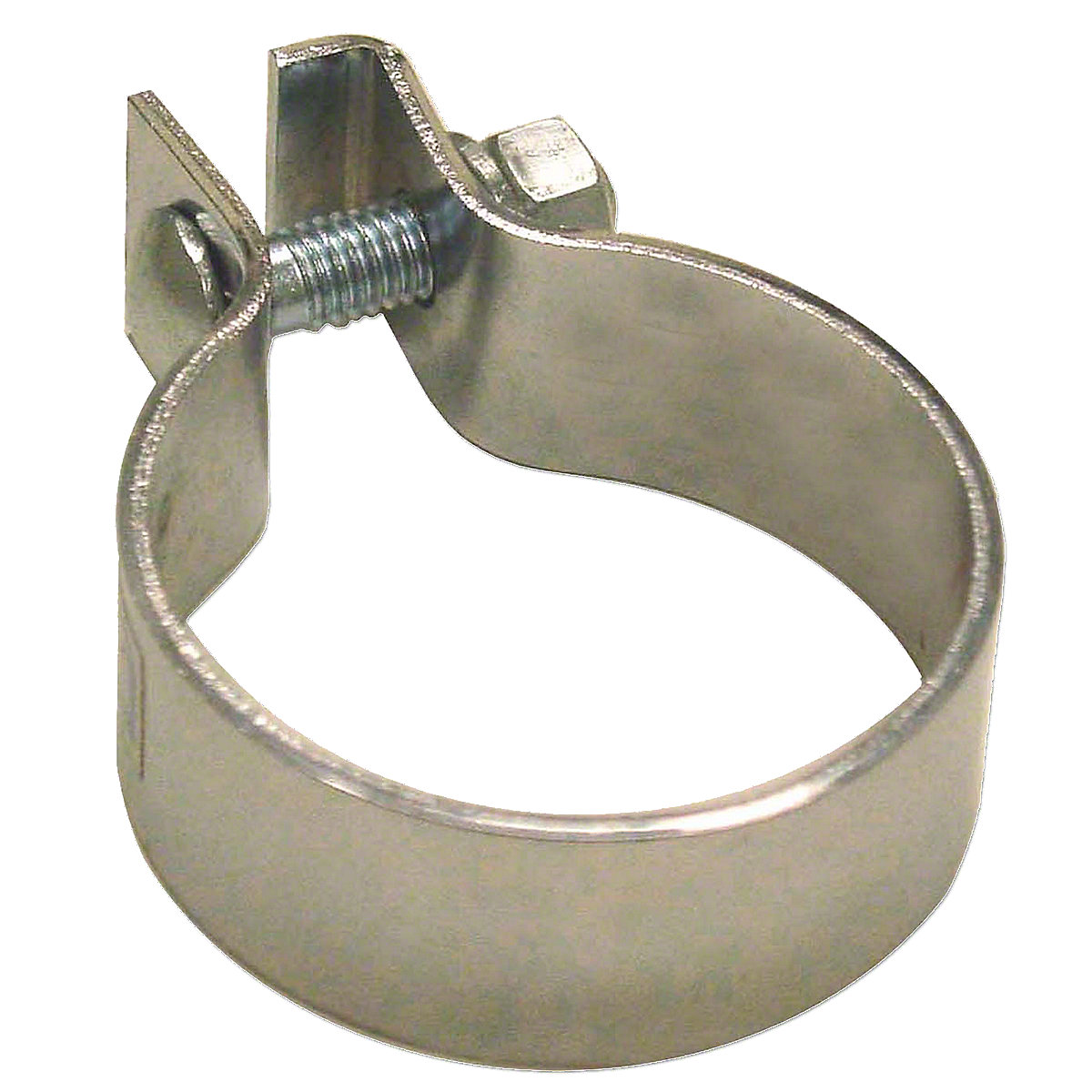 Chrome Muffler Clamp For Massey Harris: Mustang 23, 101 Jr, 101 Sr, 102 Jr, 102 Sr, 20, 20k, 22, 22k, 30, 33, 44, 81, 82, 333, 444, 30k, 44 Special,