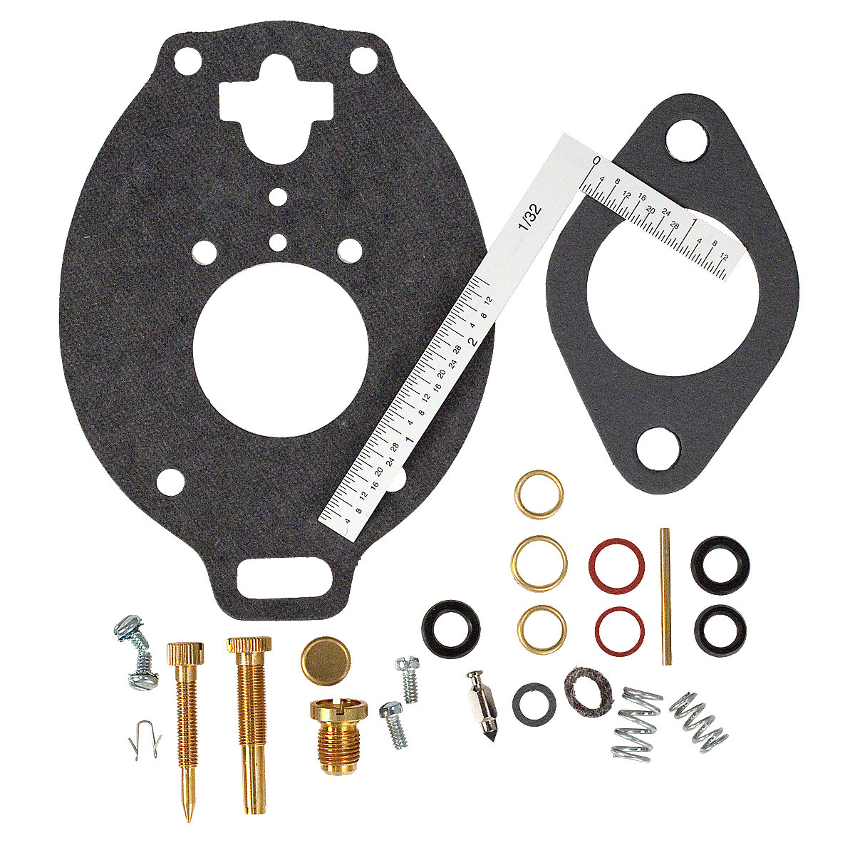 Marvel Schebler Carburetor kit For Massey Ferguson: 303, 85, 88, Super 90, Massey Harris: 102, 201, 202, 203.