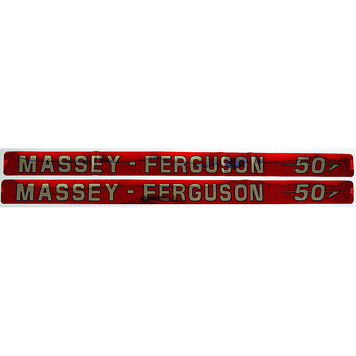Mylar Hood Decal Set For Massey Ferguson: 50.