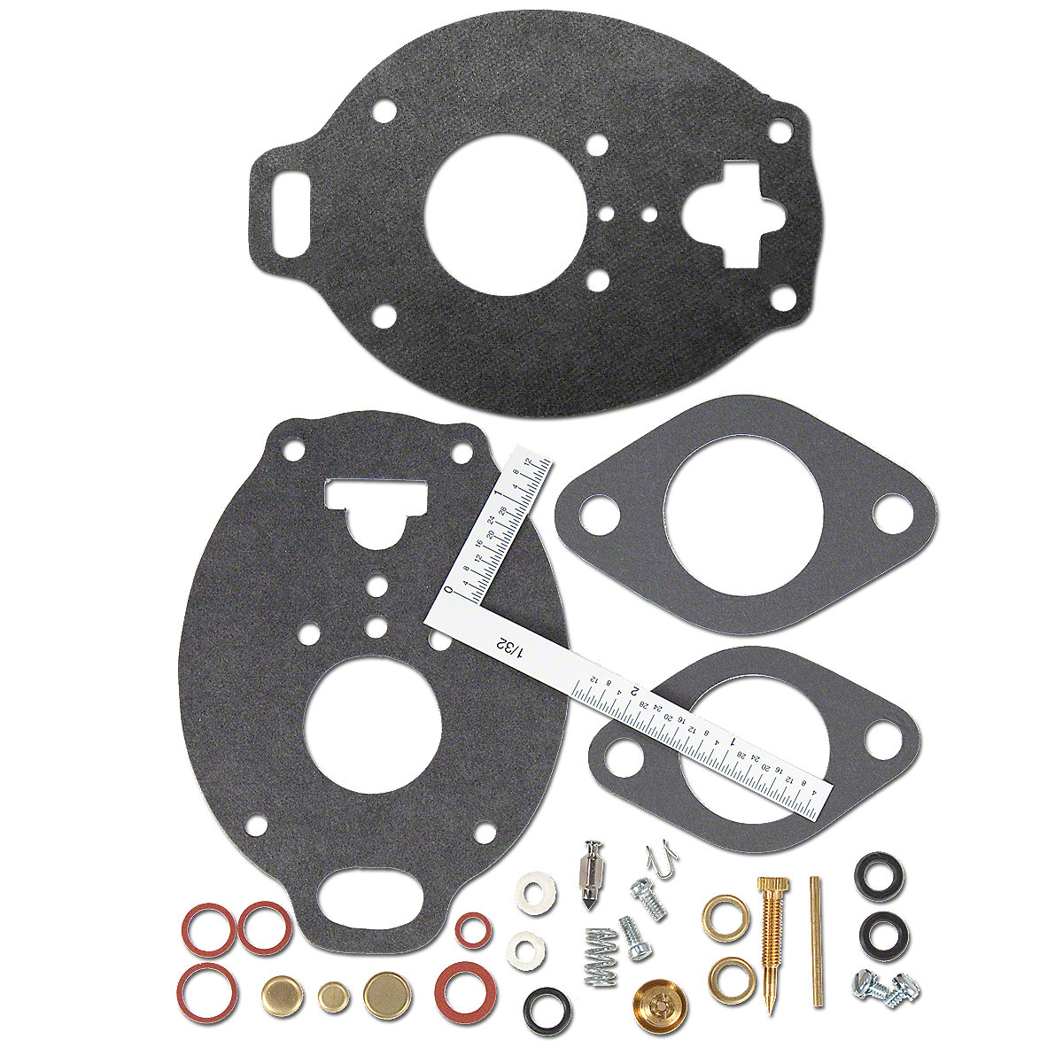 Marvel Schebler Carburetor Kit For Massey Ferguson: 1001, 150, 165, 175, 180, 302, 303, 304, 3165, 356, 65, Massey Harris: 33, 333