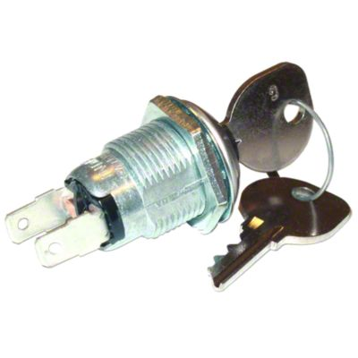 Ignition Switch With Key For Massey Ferguson: TE20, TO20, TO30, TO35, 35, 40, 50, 65, Massey Harris: Colt 21, Mustang 23, Pony, 101 Jr, 101 Sr, 102 Jr, 102 Sr, 20, 22, 30, 33, 44, 44-6, 50, 55, 81, 82.
