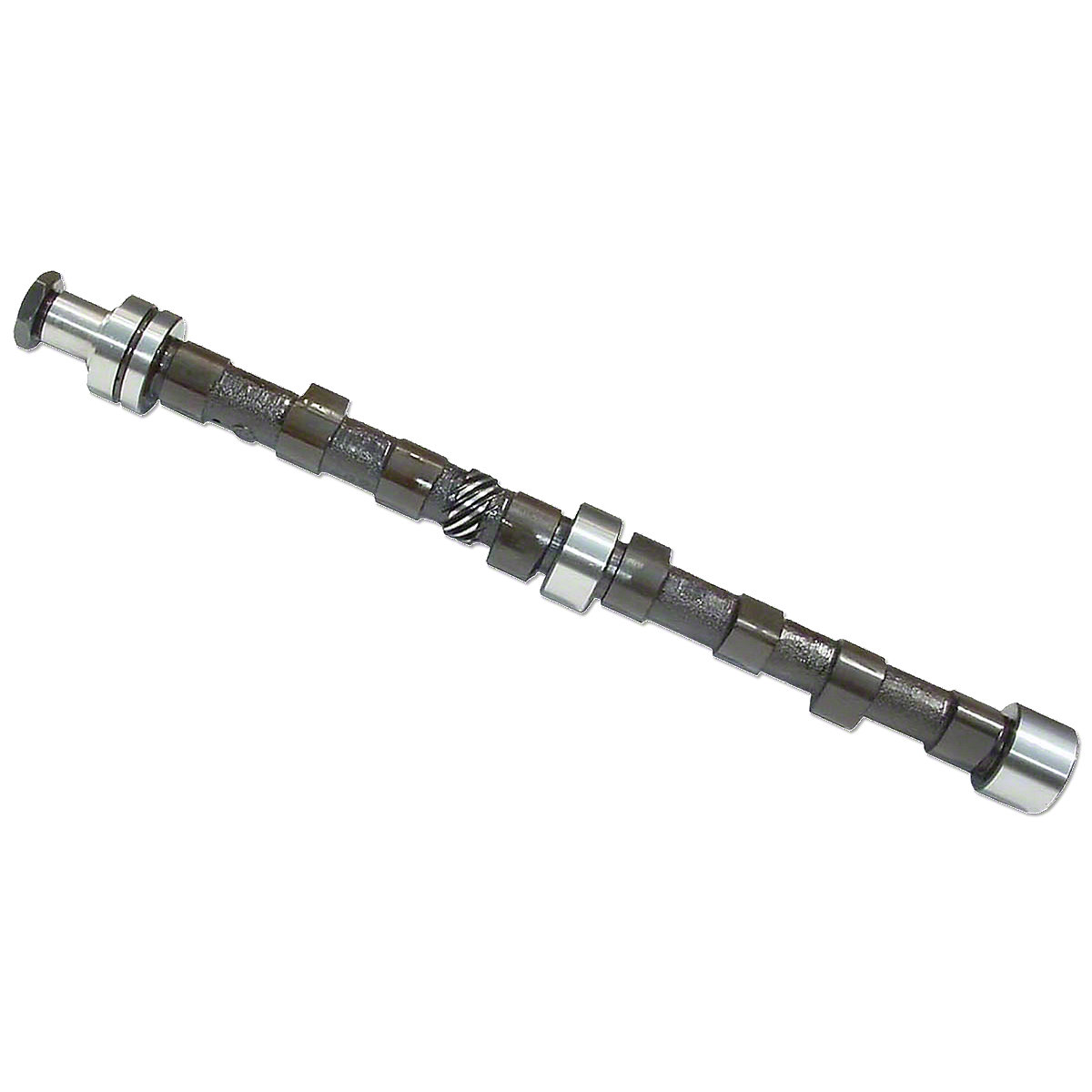 Camshaft With Nut For Massey Ferguson: 135, 150, 230, 235, 245, 2135, 6500, 20C, 2500, 30B, 4500.