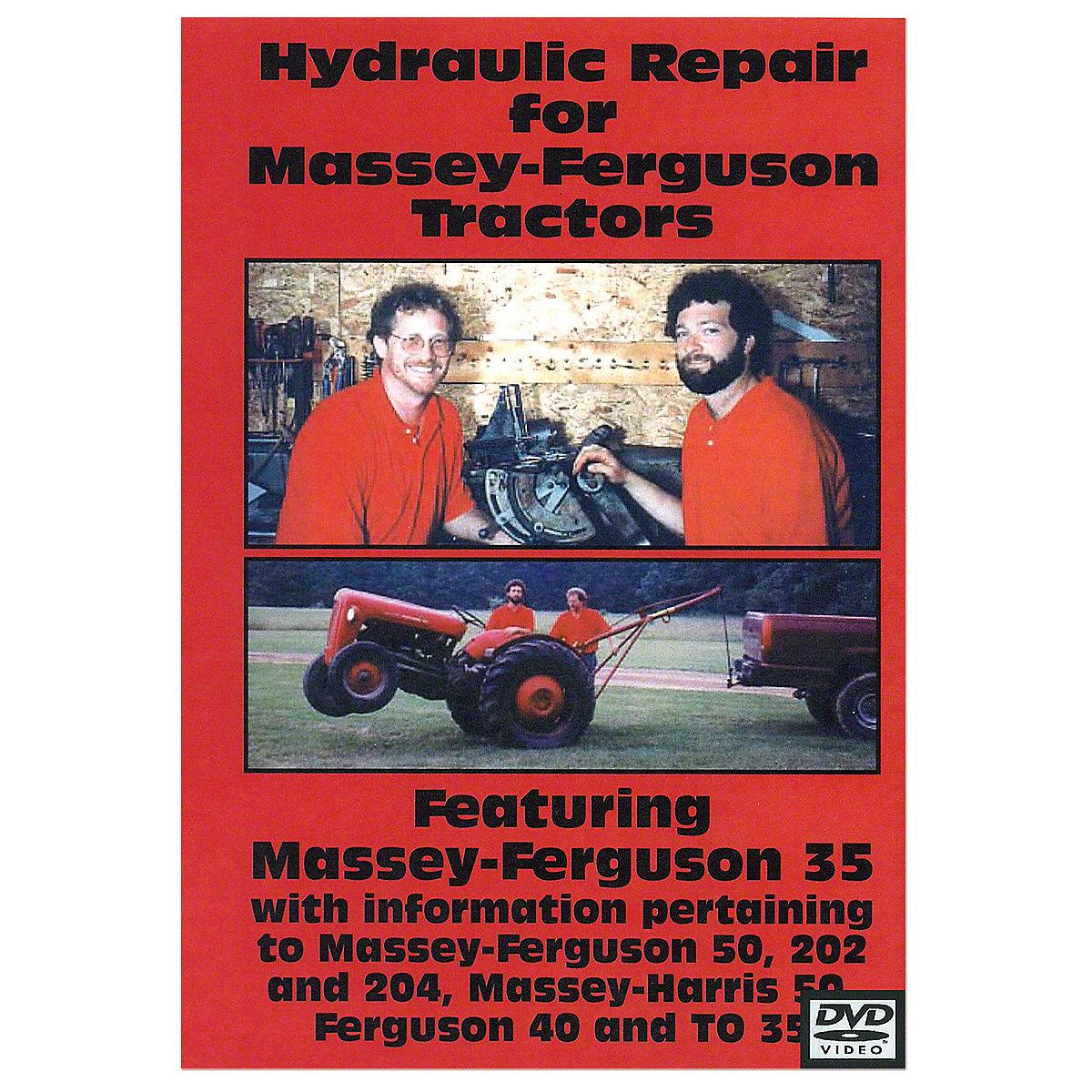 Ferguson Hydraulic Repair Video (DVD) For Massey Ferguson: TO35, 202, 204, 40, 50, 35, Massey Harris: 50.
