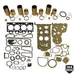 """Base Engine Kit: Includes standard pistons w/rings, liners (4.10""""OD), complete gasket set with front and rear crank seals (Lip and Rope) and connecting rod bushings. Rod or main bearings can be added separately. Please indicate the rod and main bearing sizes required when adding to Base Engine Kit. Base engine kit for diesel applications. Part Reference Numbers: B3169;U5MK0286 Fits Models: 1744S; 175; 180; 1844; 255; 265; 2744; 3050; 31 COMBINE; 362; 374S; 375; 384S; 50 LOADER; 50B INDUST/CONST; 50C INDUST/CONST; 50E INDUST/CONST; 50H LOADER; 6500 FORKLIFT; 670"""