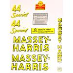 Mylar Decal Set For Massey Harris 44 Special.