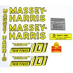 Mylar Decal Set For Massey Harris 101 Senior Twin Power.