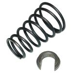 Spring and Clip For Gear Shift Lever For Massey Ferguson: Super 90, TE20, TEA20, TO20, TO30, TO35, 135, 150, 165, 175, 202, 203, 204, 205, 20C, 2135, 2200, 230, 235, 240, 245, 2500, 256, 265, 275, 285, 30, 302, 304, 31, 3165, 4500, 501, 50C, 65, 6500, 85. Replaces PN#: 192007m1, 1861024m1, 180583m1.